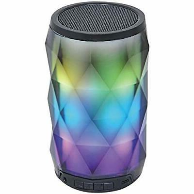 Portable Bluetooth Diamond Speaker with Color-Changing Lights Touch