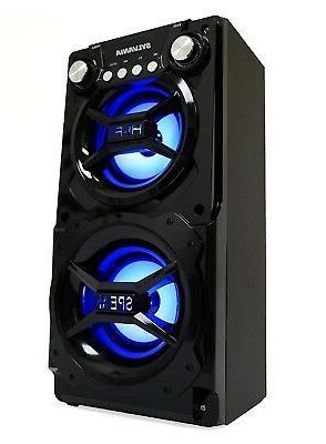 Sylvania Bluetooth Speaker, Black - SP328-B-BLACK