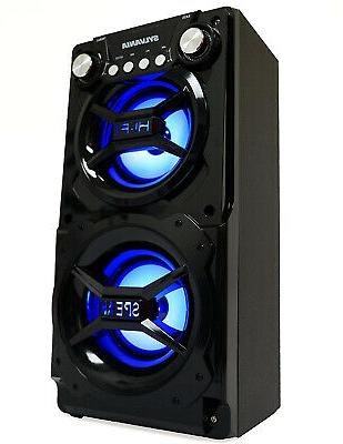 Sylvania Portable Bluetooth Huge Stereo Sound 2X4 In