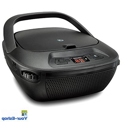 Portable Player W/ AM am/fm Radio Speaker Bluetooth Black