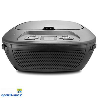 Portable W/ AM FM Radio Speaker Black