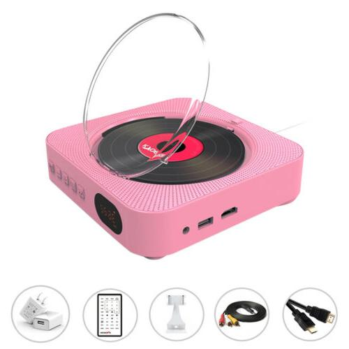 Portable DVD/CD Player 2-in-1 w/ Bluetooth Dual Speakers Wal