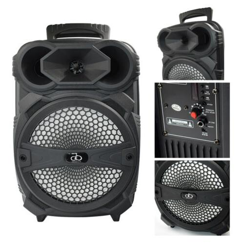 "8"" Party Bluetooth Speaker 1000 Watts System Led Portable St"