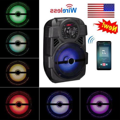 portable pa karaoke bluetooth speaker w 8
