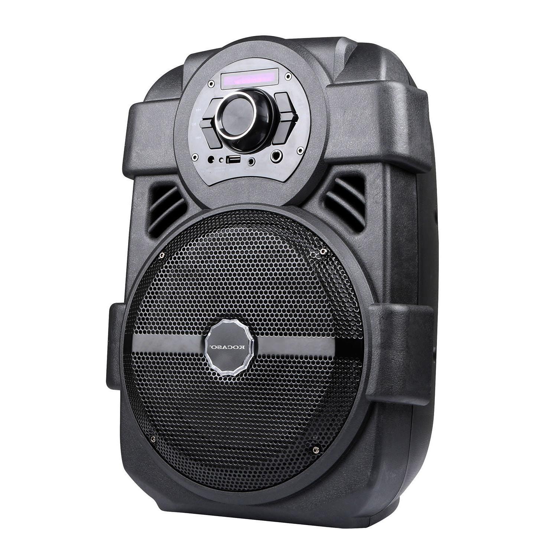"Portable Karaoke Wireless Speaker 8"" Sound System LED MIC"