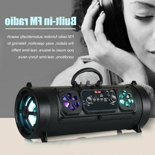 Portable Bluetooth Speaker Super Bass Stereo Radio HIFI USB