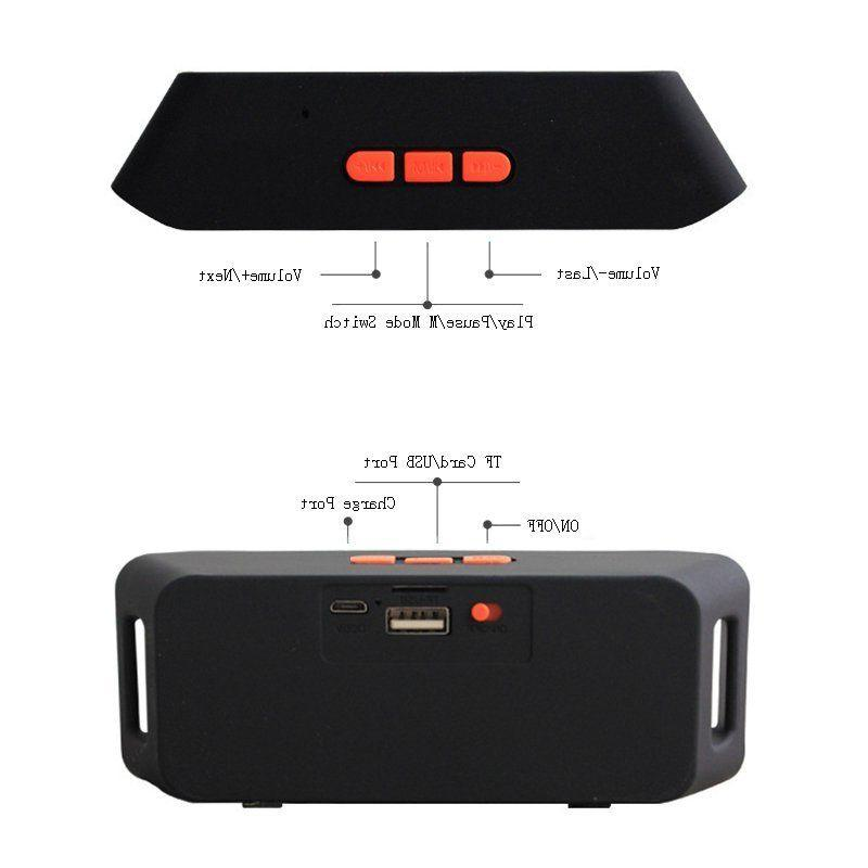 Rechargeable Wireless Bluetooth Portable FM Radio Stereo