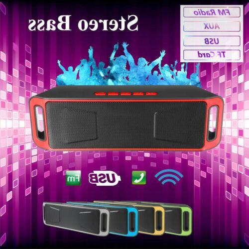 Recharegable Wireless Bluetooth Stereo Speaker Portable Outd