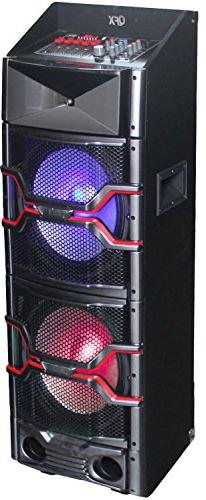 QFX SBX-312204 Bluetooth Pa Speaker with Built-In Amplifier