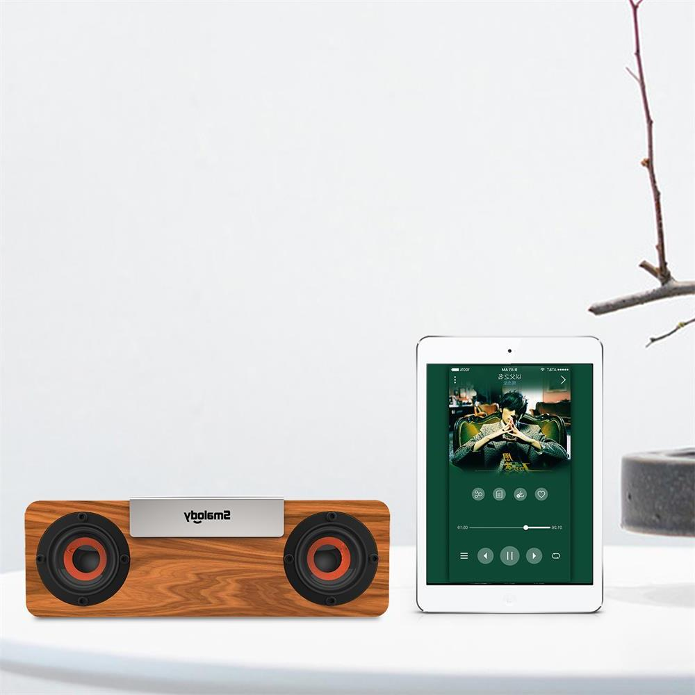 Smalody <font><b>bluetooth</b></font> Wooden TV bass loudspeaker computer boombox USB Radio sound box