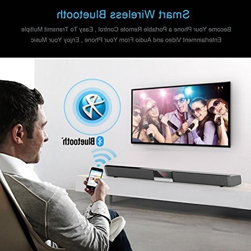 Soundbar with by HYASIA, 40-Watts & Wired Bluetooth Bars Home Theater, Sound Bar PC, Cellphone.