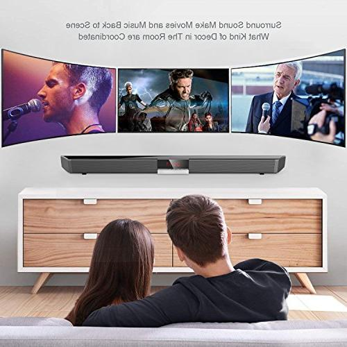 Soundbar with by HYASIA, 34 Inch & Wired Bluetooth Bars Home Surround Sound for TV, PC, Cellphone.