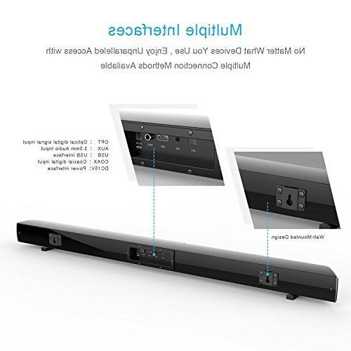 Soundbar Built-in by HYASIA, 40-Watts 4.0 Channel & Sound Bars Sound Bar PC,