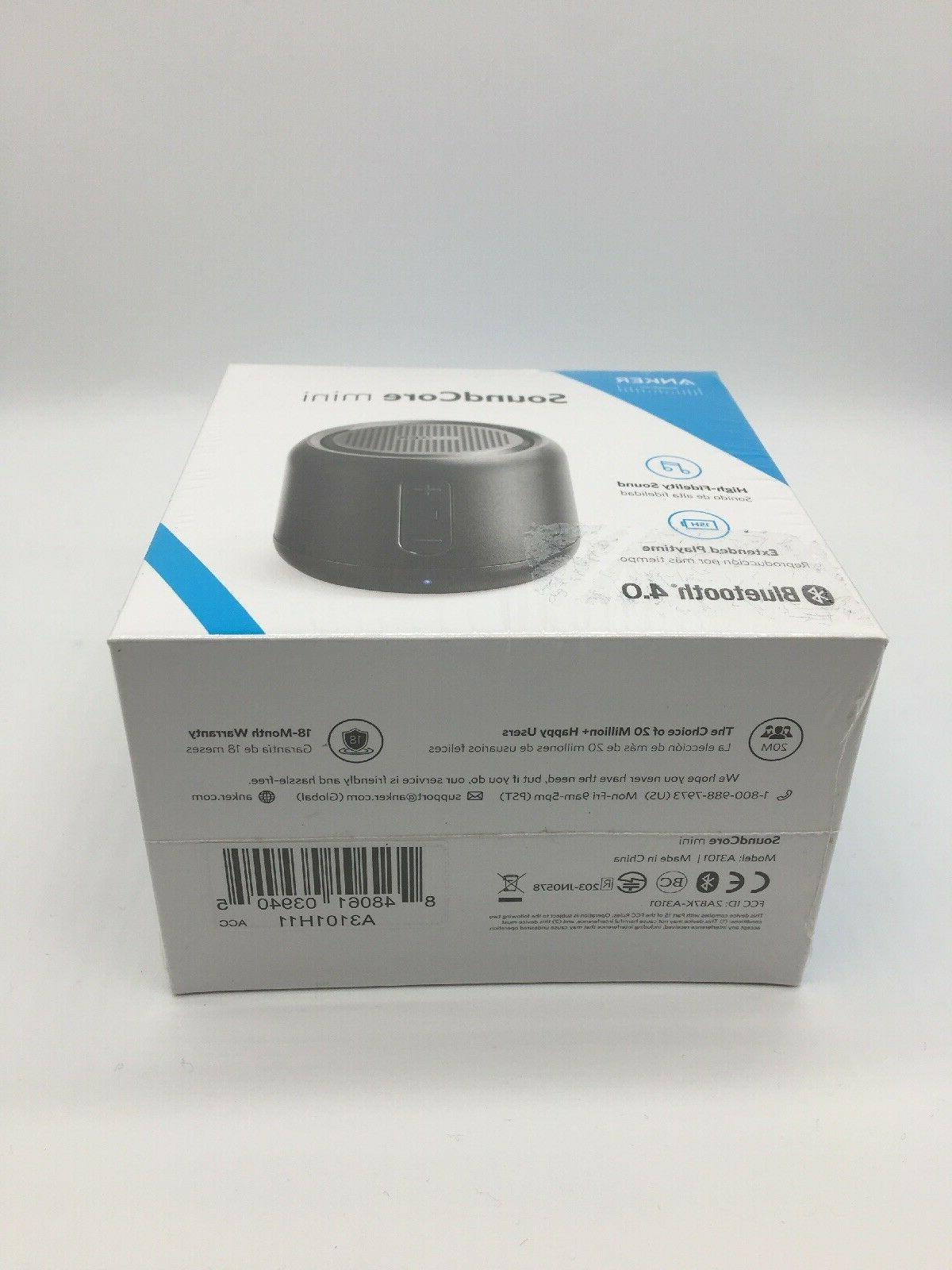 ANKER SoundCore Mini Bluetooth Speaker FM 15 Hour New