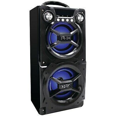 sp328 black bluetooth speaker with speakerphone black