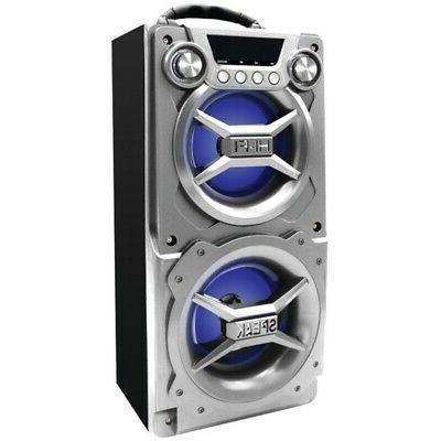 sp328 silver bluetooth speaker with speakerphone silver
