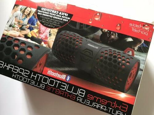 Sylvania SP353-BK/RD Water Resistant BlueTooth Rugged Black/Red