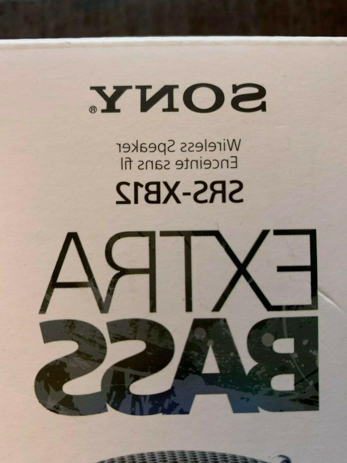 Sony SRS-XB12 Bluetooth Speaker Black New in Free Shipping