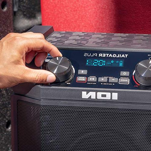 ION Audio Tailgater   Wireless Rechargeable Portable Speaker System Life, & Cable, AM/FM Radio Charging Tablets