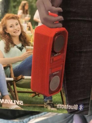 Sylvania Bluetooth SP833-RED Wireless