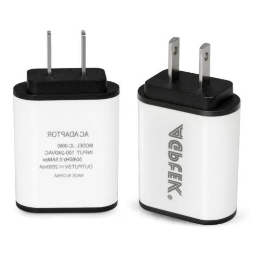 2PCS USB Travel Charger Range Technology for iPhone