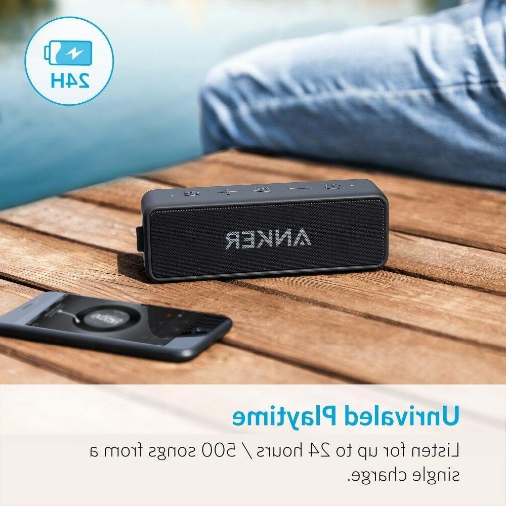 Anker SoundCore 2 Bluetooth Speaker with Better Bass, 24-Hou