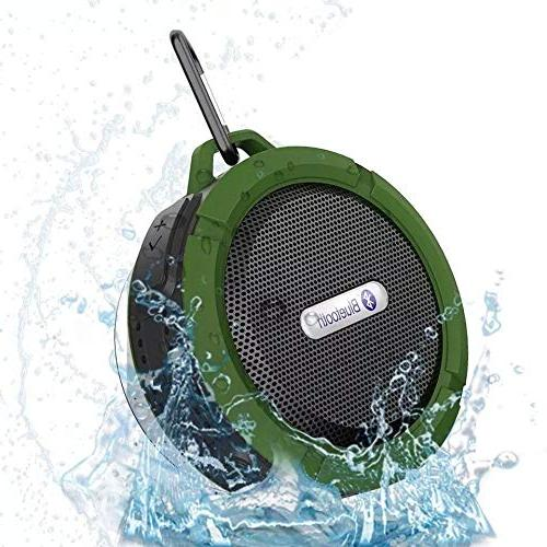Outdoor Bluetooth Speaker,Kunodi Wireless Portable Travel with Subwoofer, Enhanced Built Mic for Beach, Hiking,