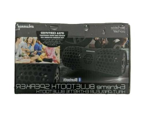Sylvania Waterproof Bluetooth SP353 Black/Grey
