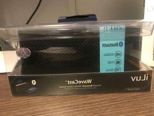 wavecast portable bluetooth wireless stereo speaker nib
