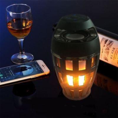 Wireless Bluetooth Speaker LED Flicker Flame Fire Effect Lig