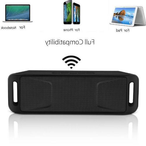 wireless bluetooth speaker usb rechargeable double speakers