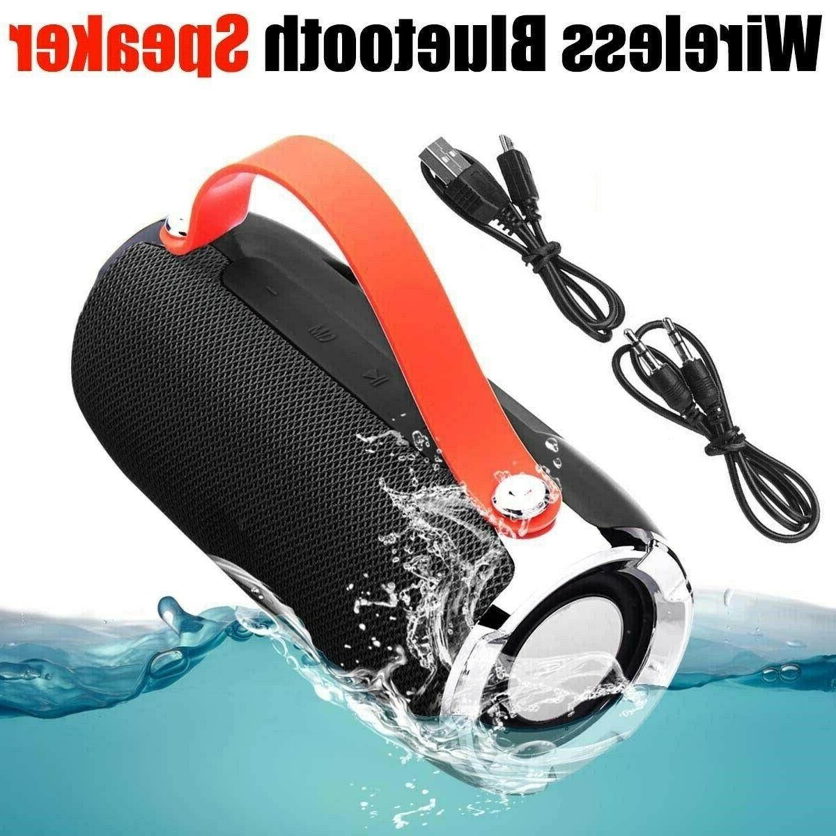 wireless bluetooth speaker waterproof outdoor stereo bass