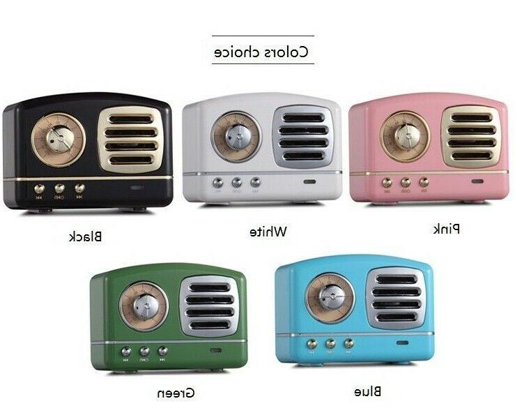 wireless stereo portable bluetooth retro speaker w