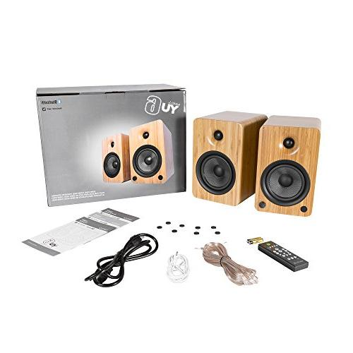 Kanto YU6 with and Phono Preamp, Bamboo