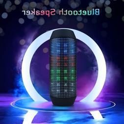 LED Bluetooth Speaker Portable Subwoofer Super Bass Stereo d