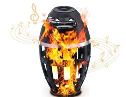 LED Flame Lamp Bluetooth Speaker