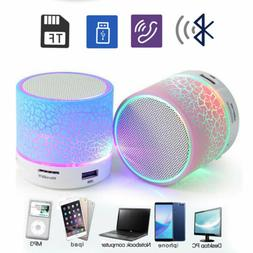 LED Portable Mini Bluetooth Speaker Wireless Bass Speaker Wi