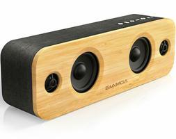 AOMAIS Life Bluetooth Speakers, 30W Loud Wood Home/Outdoor W
