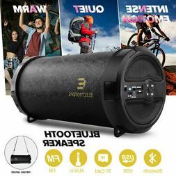LOUD Bluetooth Speaker Wireless Waterproof Black Stereo Bass