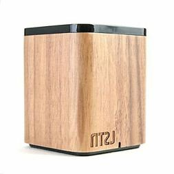 LSTN Satellite Walnut Wood Portable Bluetooth Speaker with B