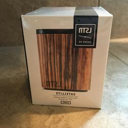 LSTN Satellite Zebra Wood Portable Bluetooth Speaker with Bu