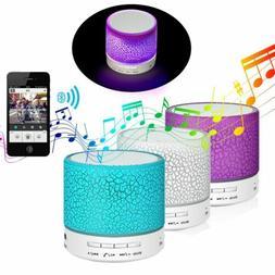 Luminous Lights Rechargeable Wireless Bluetooth Speaker Port