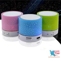 Mini BT Speaker USB Led Light Wireless Portable Music Box Su
