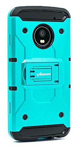 Motorola Moto G5 Plus Case, Maxessory Teal Pathfinder Heavy-