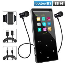 MP3 Player with Bluetooth, Zerofire 16GB Portable Digital Mu