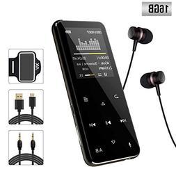 XIAOWU MP3 Player 16GB Digital Music Player Support FM Radio