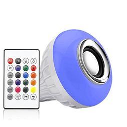 LED Music Light Bulb, E27 led Light Bulb with Bluetooth Spea