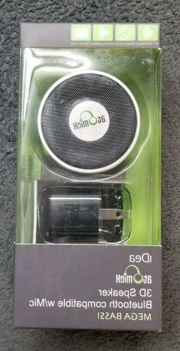 NEW 3D Speaker Bluetooth compatible W/Mic MEGA BASS SP-S10W