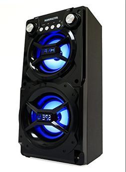 New Sylvania Black Portable Bluetooth Speaker Smartphone Bas