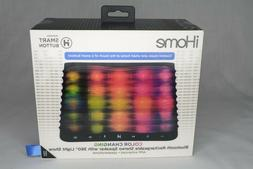 New iHome iBT751B Color Changing Bluetooth Stereo Speaker wi